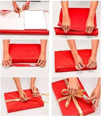 Как перевязать подарок лентой